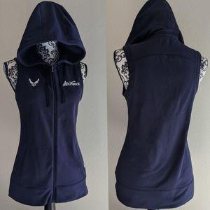 USAF Under Armour Navy Blue Hooded Vest